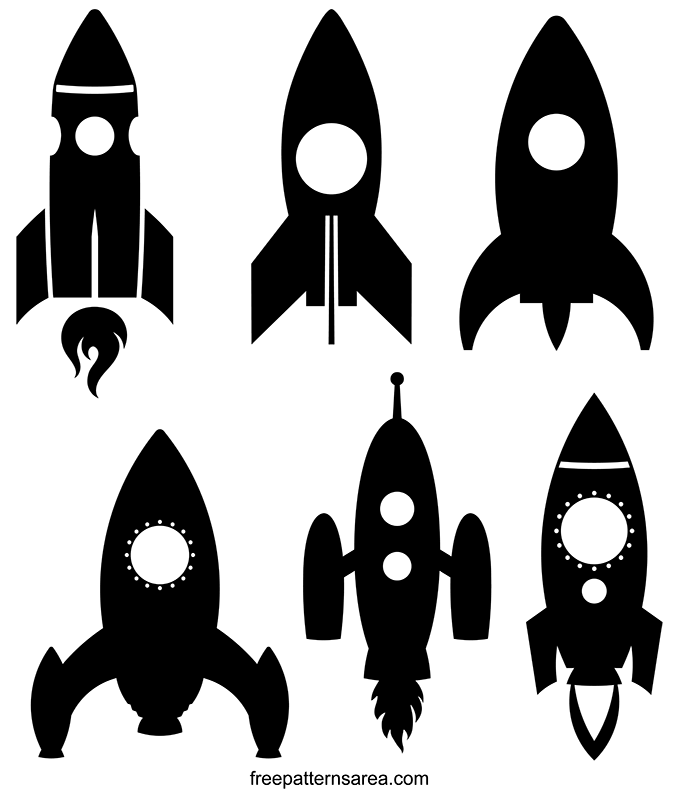 Rocket Spaceship Clipart Vector