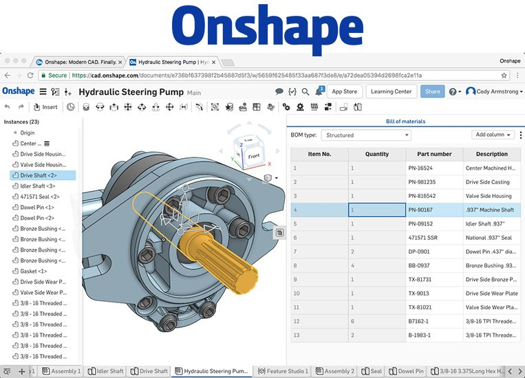 Onshape Free 3d Cad Software