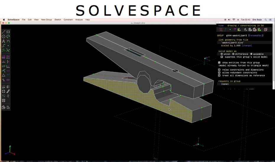Solvespace 3d Free Cad Programs