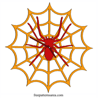 Laser Cut Spiders Web Clock Idea