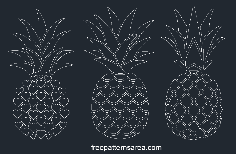 Pineapple Dwg Autocad Files