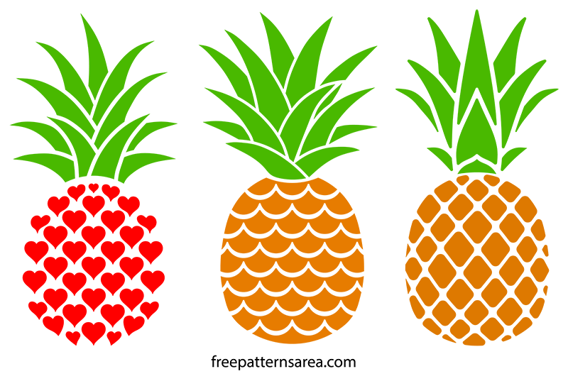 Pineapple Svg Clipart Silhouette