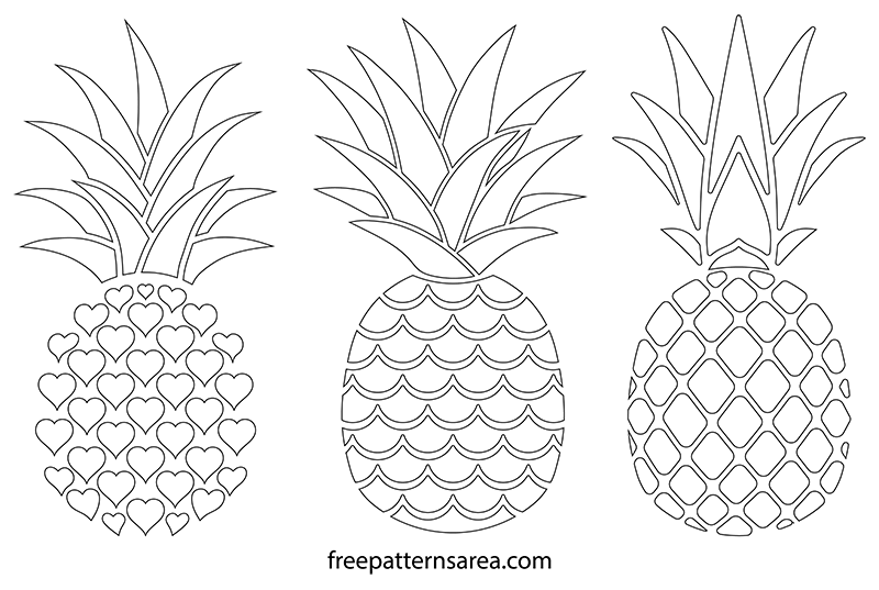 photo regarding Free Printable Pineapple identified as Printable Totally free Pineapple Silhouette Vectors FreePatternsArea
