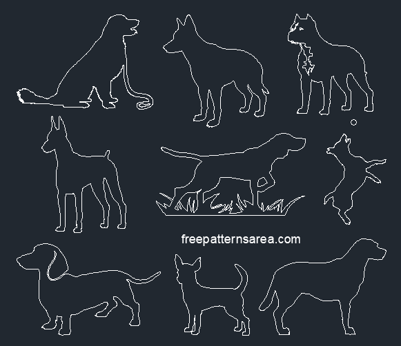 Autocad Dog Dwg Drawing File