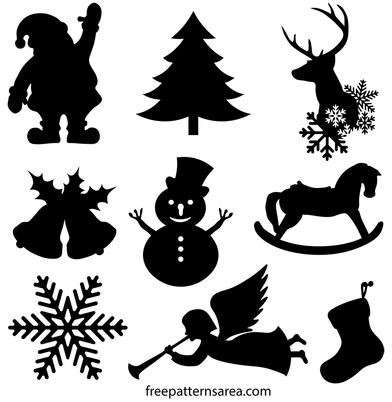 Bell Shaped Christmas Ornament Black Drawing Vector