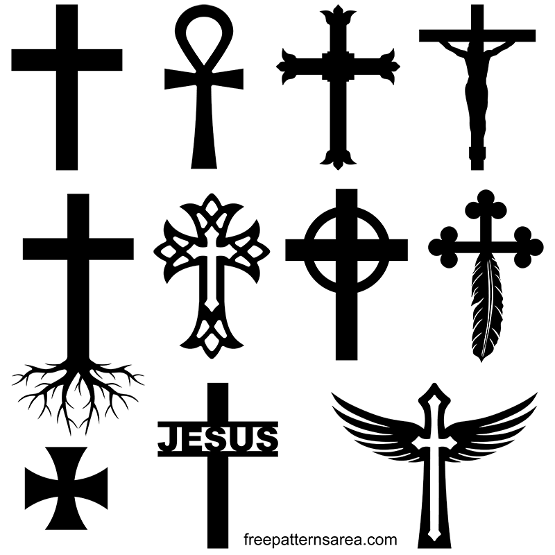 Cross Symbol Silhouette Vector Images