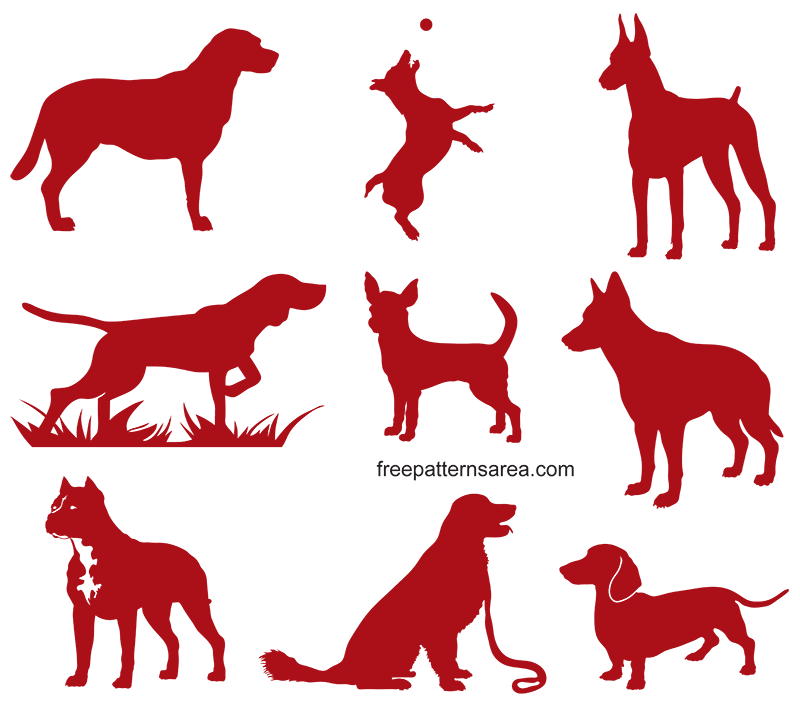 Dog Shapes Free Svg Cut Files
