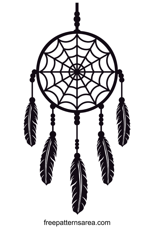 Dreamcatcher Design Silhouette Vector Image Files