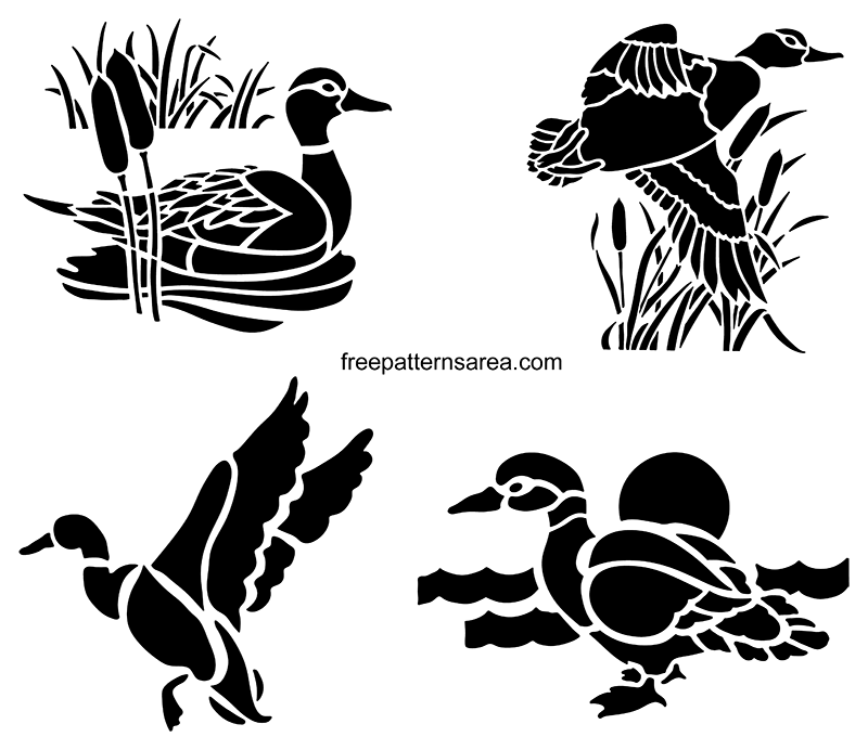 Duck Printable Stencils Art Templates
