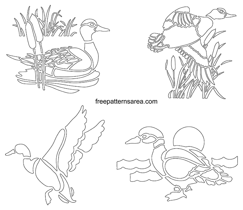 Duck Stencil Cut Out Drawing Templates