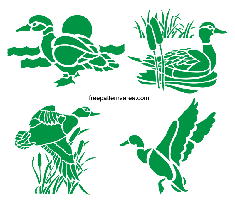 Duck Stencil Svg Cut Design Images