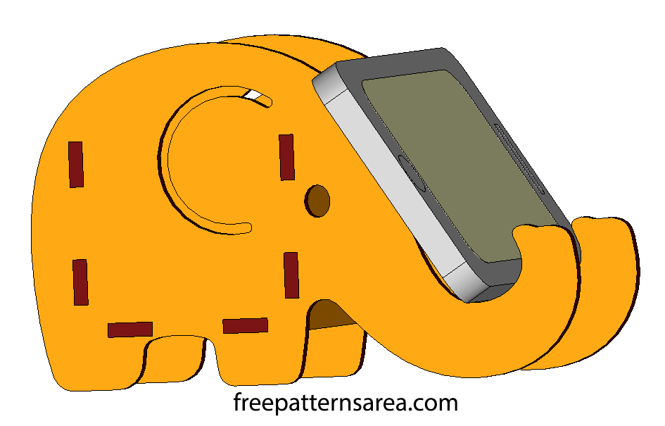 Elephant Phone And Pencil Holder Laser Cut Diy Idea