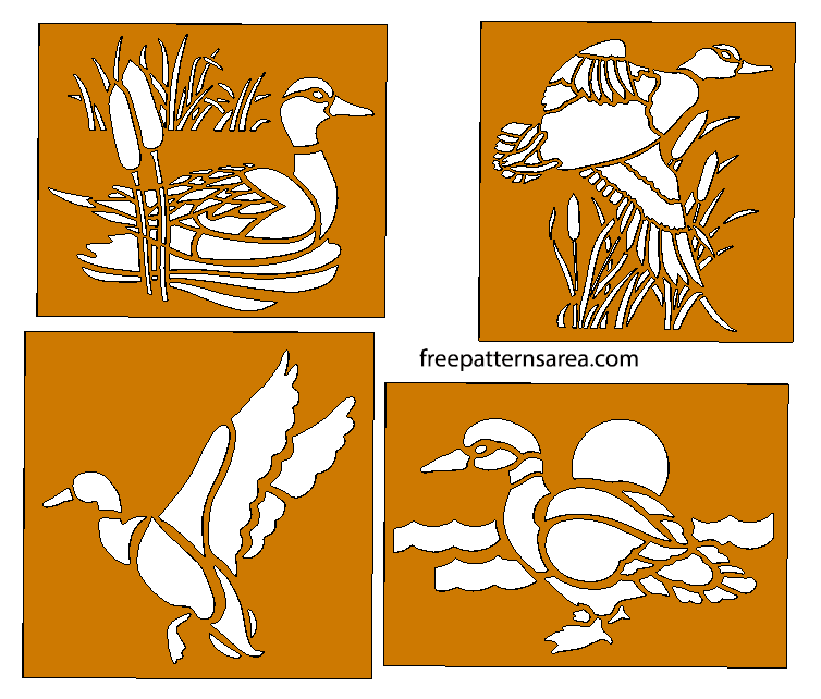 Laser Cut Cnc Duck Metal Stencils