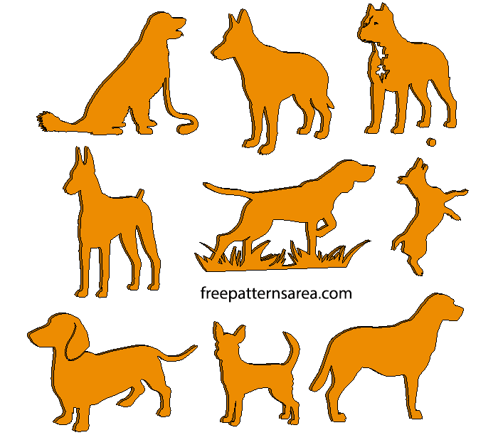 Laser Cut Dog Craft Templates