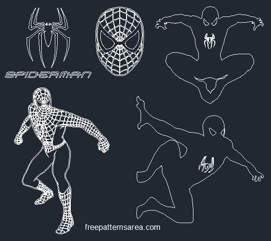 Spider-man Autocad Dwg Drawing File
