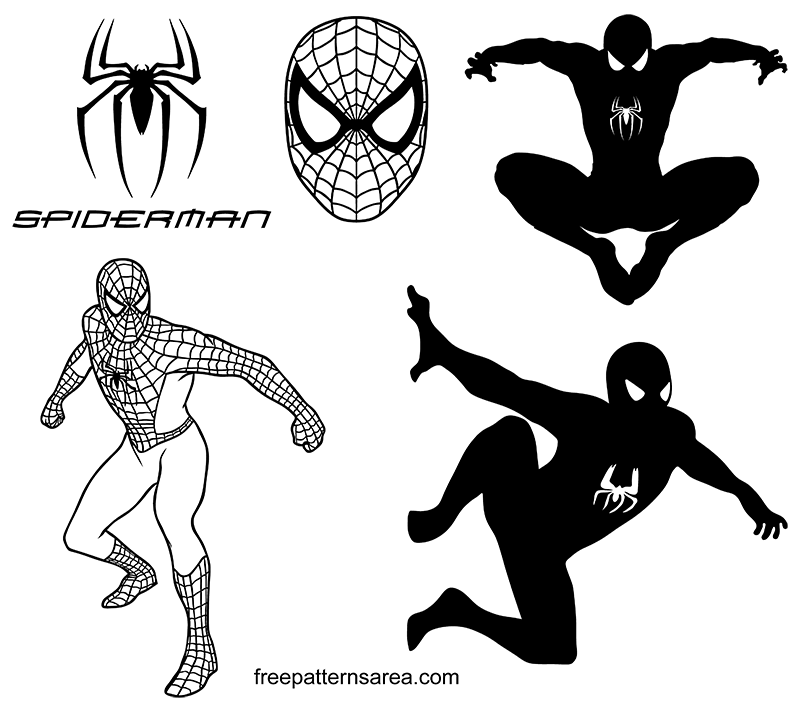 Spider-Man Logo Symbol And Silhouette Vectors