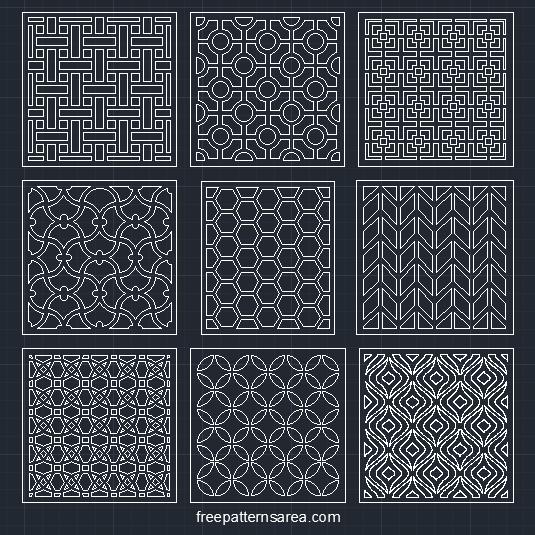 Autocad Geometric Cnc Pattern Dwg Cad Files
