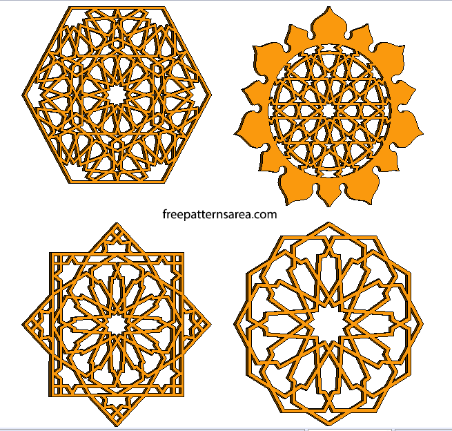 Cnc Laser Cut Islamic Ornament