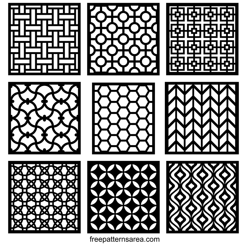 Decorative Geometric Square Pattern Vector