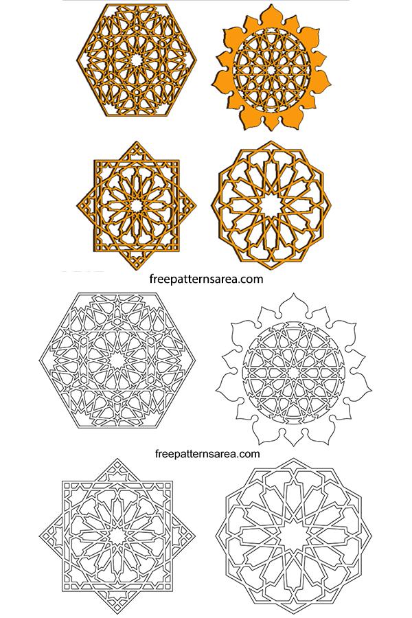Geometric Islamic Ornament Art Patterns