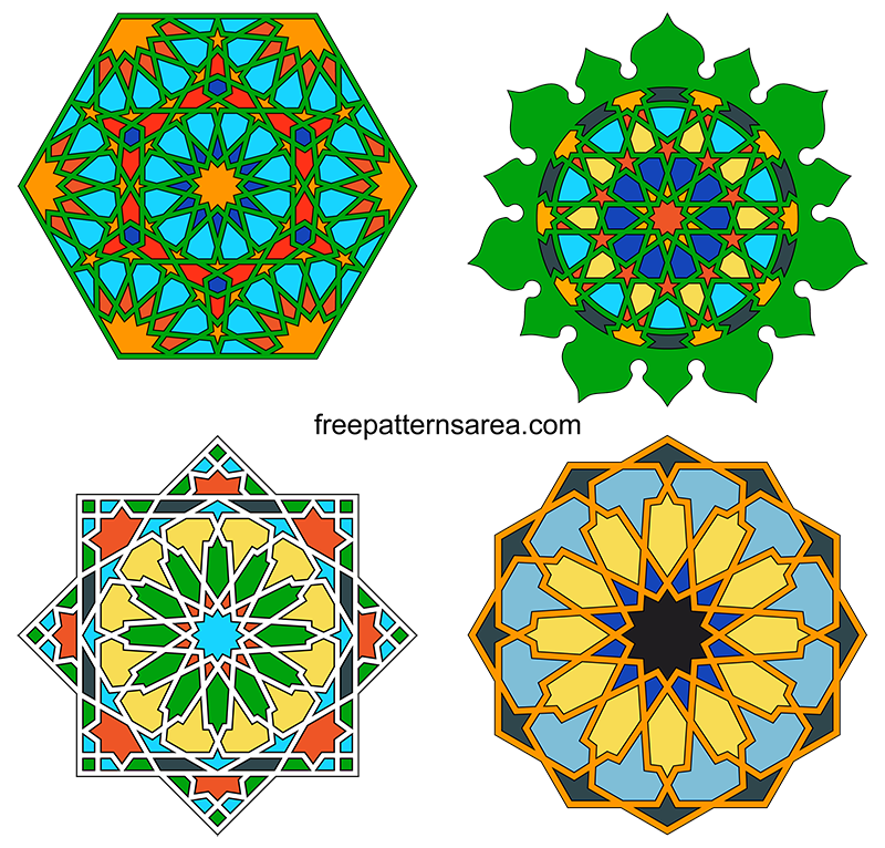 Islamic Art Geometric Design Graphics Vectors Hd
