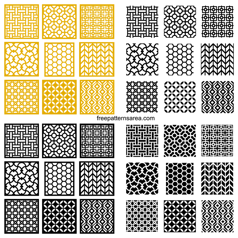 Repeating Seamless Geometric Pattern Design Vectors