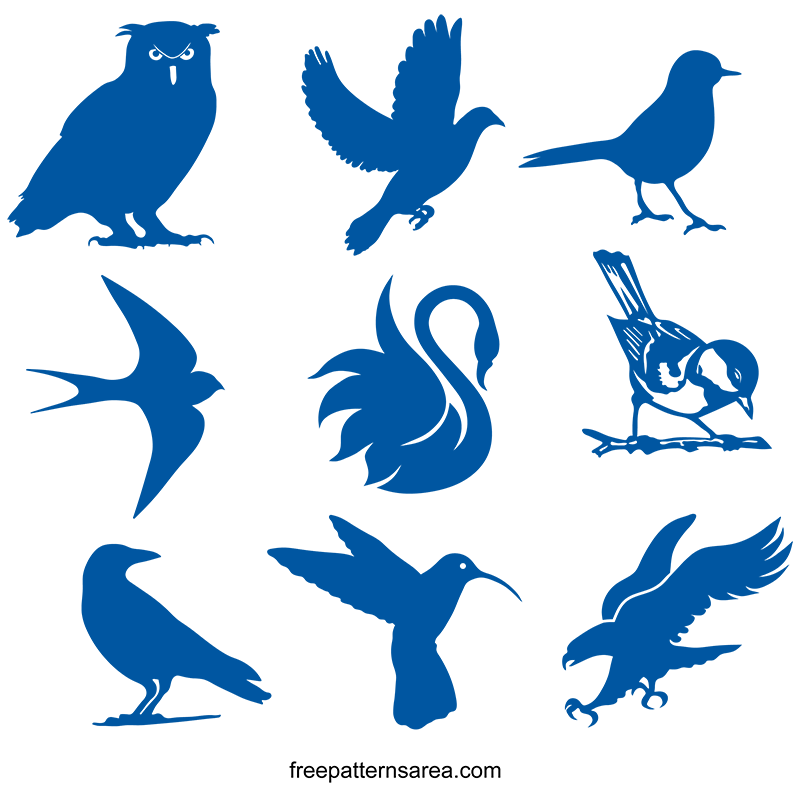 Sample Bird Clipart Svg Cut Files Free