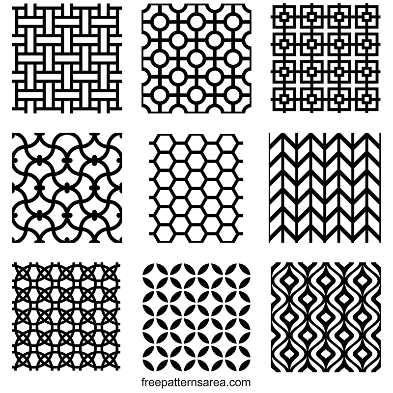 Seamless Geometric Pattern Design Vectors