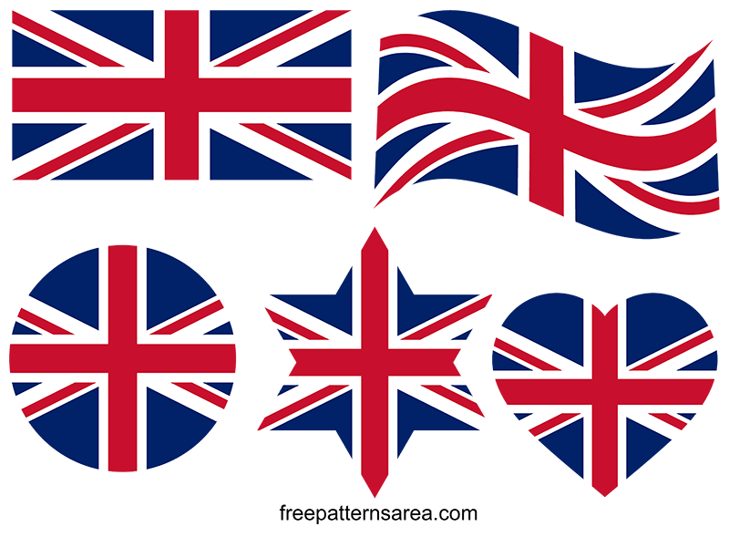 Union Jack United Kingdom Flag Vector Images