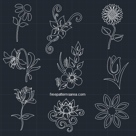 Flower Autocad Dwg Cad Block Files