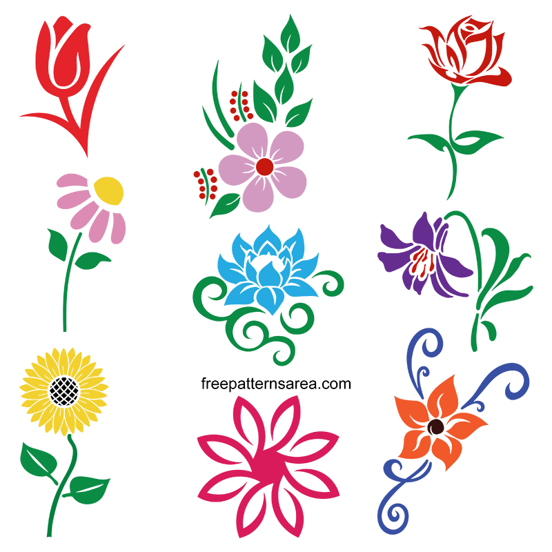 Flower Silhouette Svg Cliparts