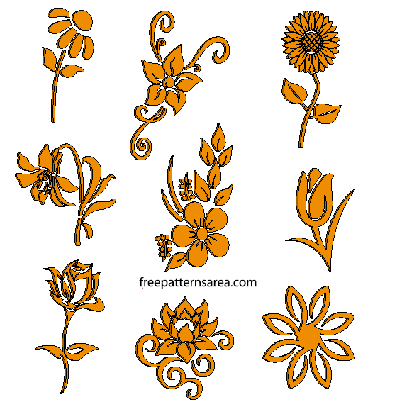 Laser Cut Flower Pattern