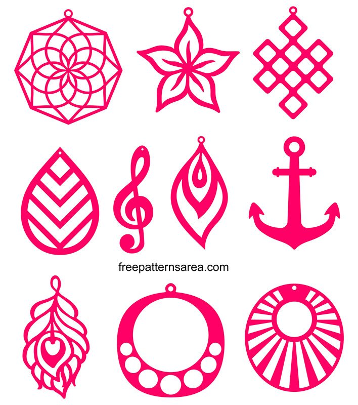 Free Svg Cutting Templates For Faux Leather Earring