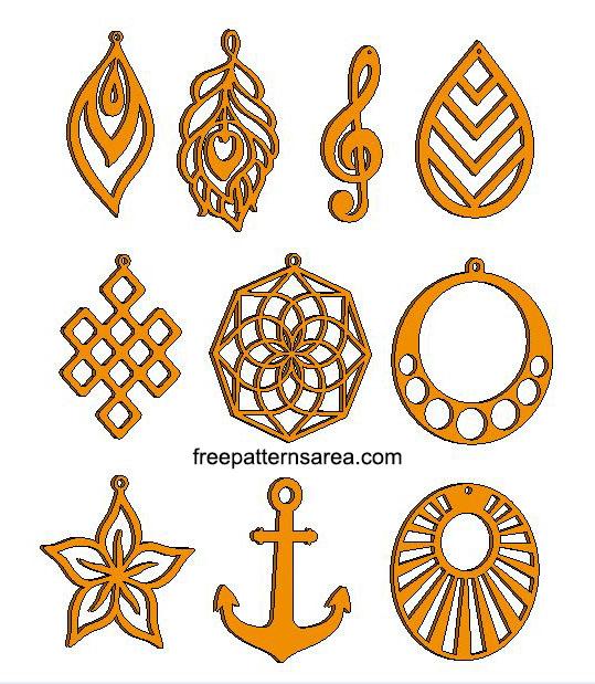 Laser Cut Wood Jewelry Earrings Design Free
