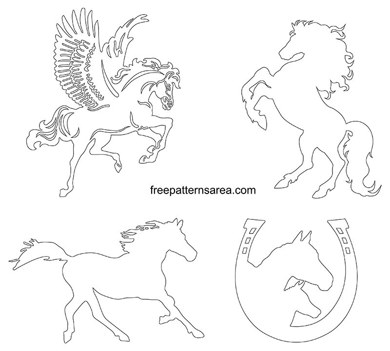 Printable Horse Outline Pdf Template