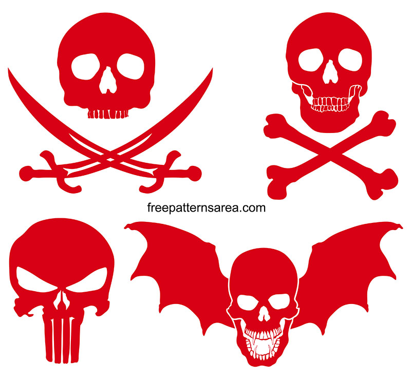 Skull Free Svg Silhouette Download