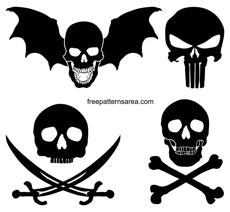 Transparent Skull Clipart Vector Images
