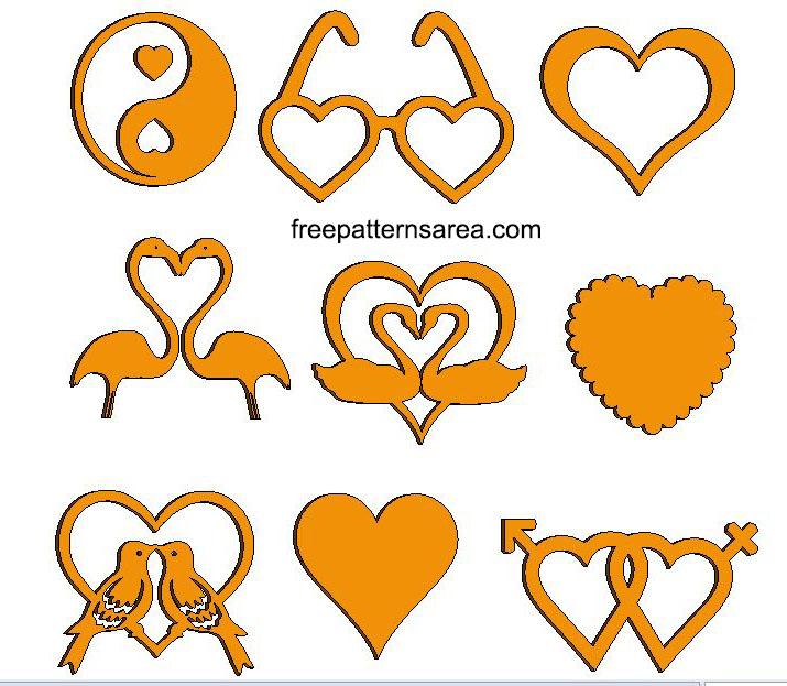 Wood Love Heart Laser Cut CNC Images