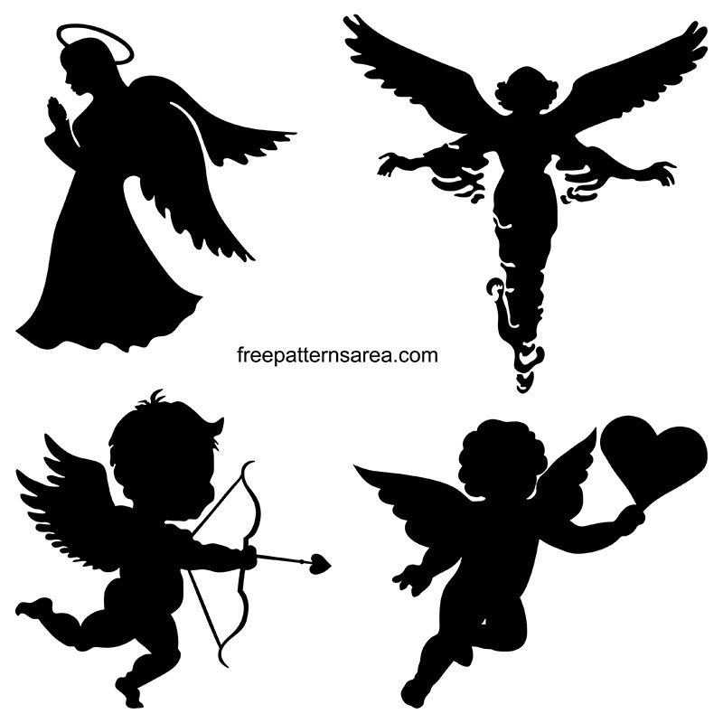 Angel Silhouette Free Downloadable Vector Images