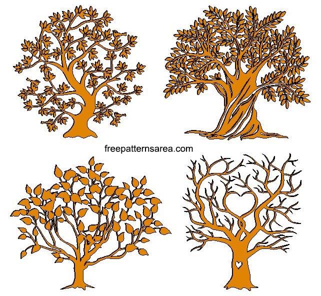 Free Tree CNC Plasma Art Dxf Files