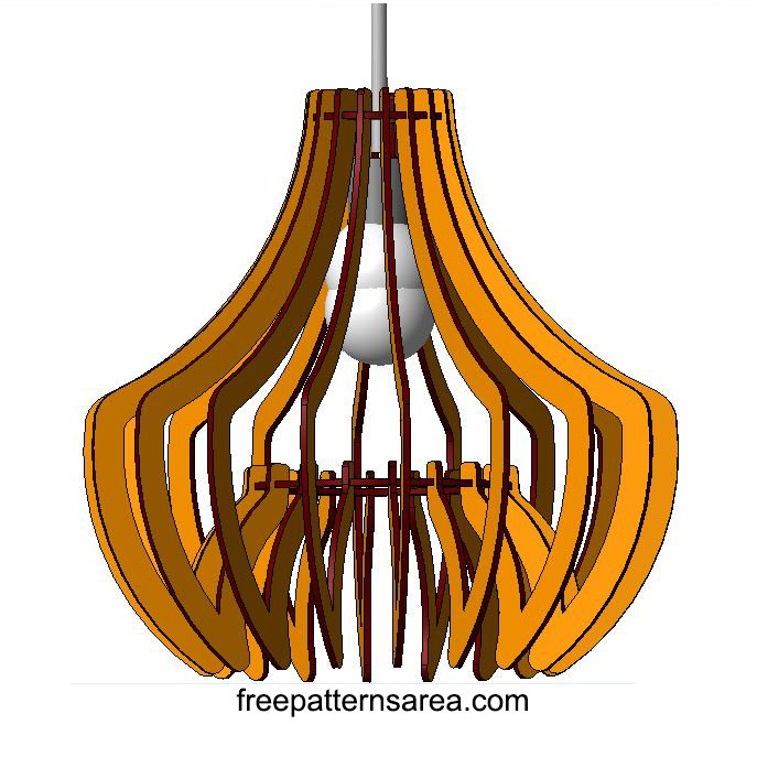 Wooden Childrens Chandelier Free CNC Router Project File
