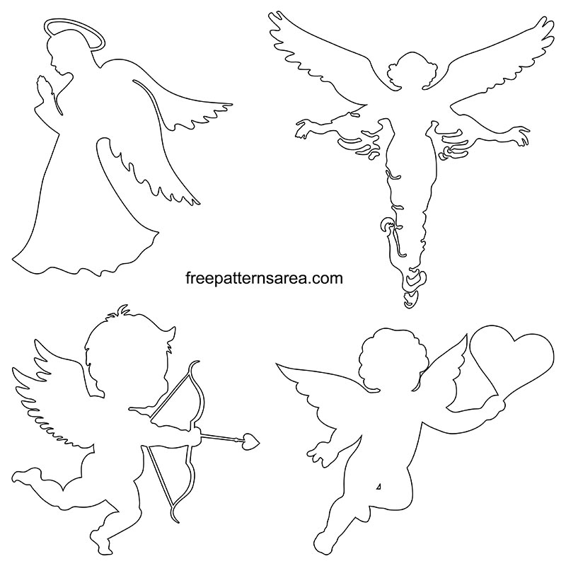 Printable Angel Outline Template