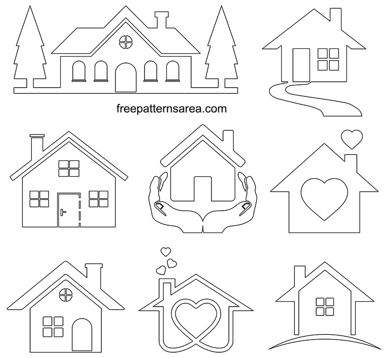 Printable Simple House Outline Template