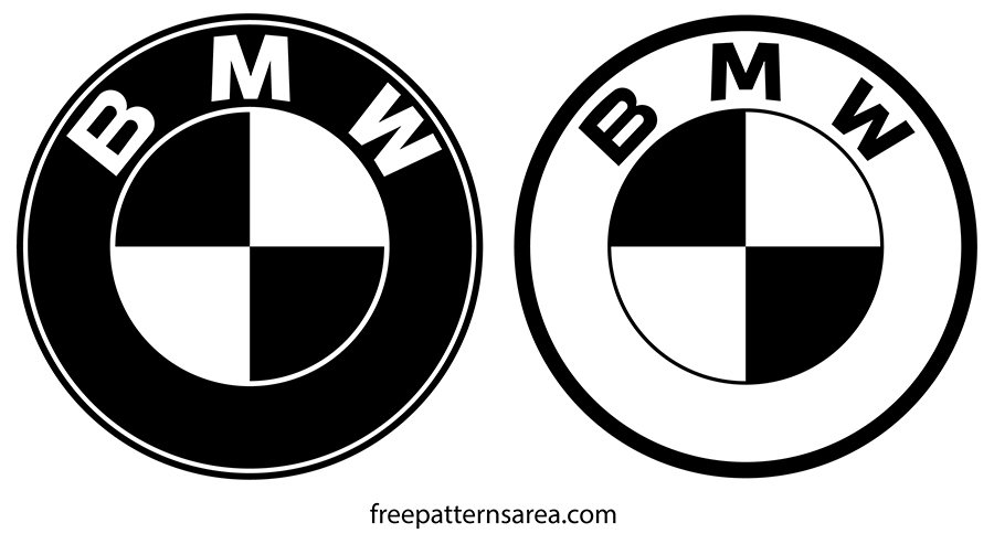 BMW Logo Silhouette Black And White Vector