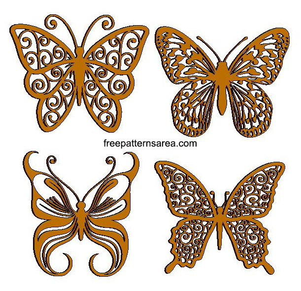 Butterfly Laser Cut Art Cnc Template