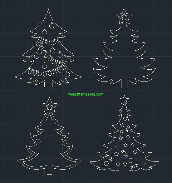 Christmas Tree Autocad Dwg Cad Block File