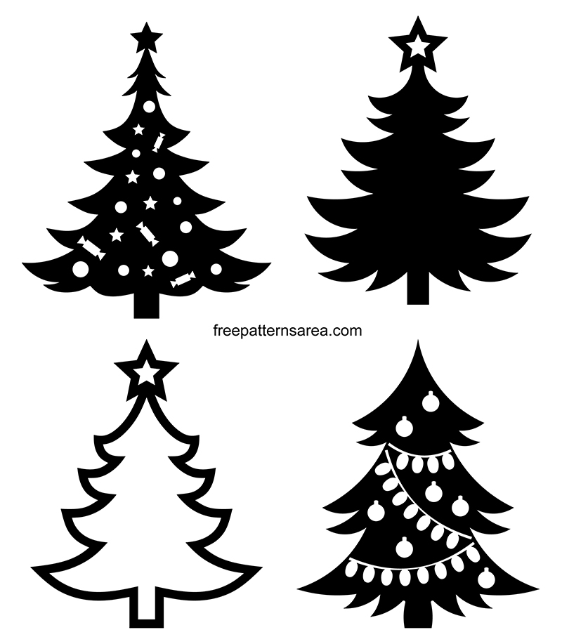 Christmas Tree Clipart Graphic Vectors