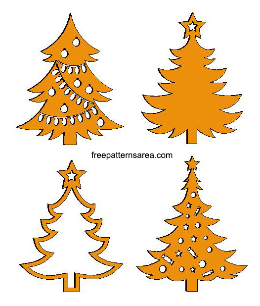 Christmas Tree Laser Cut Shapes