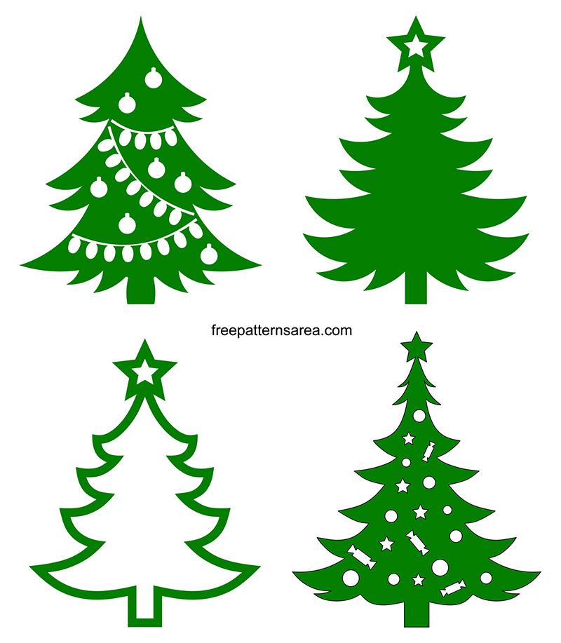 Christmas Tree Silhouette Svg Cut Files Free