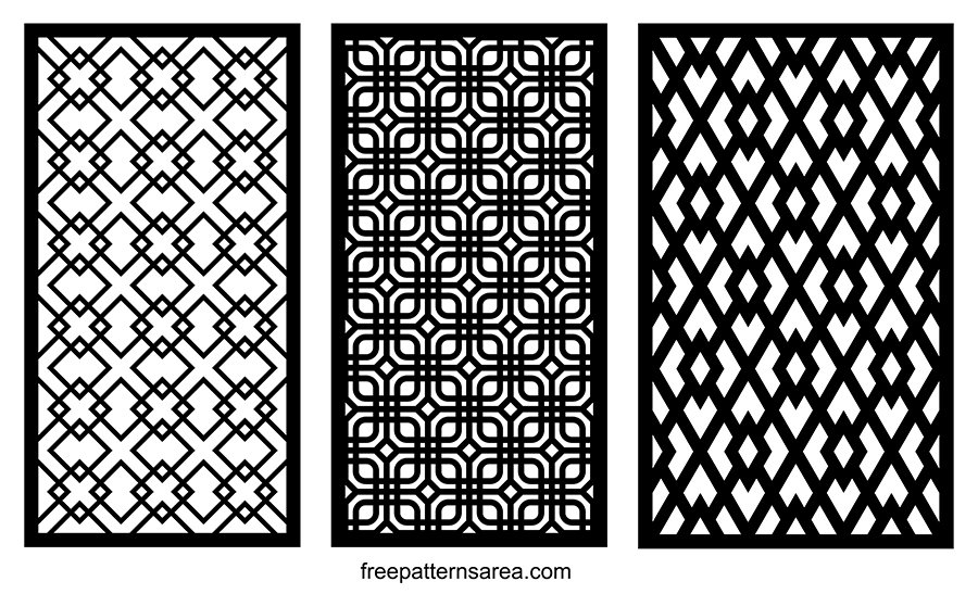 Cnc Cutting Design Vector DWG DXF Grill Patterns